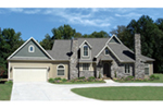 Ranch House Plan Front of House 056D-0078