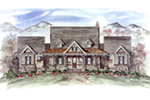 Mountain Home Plan Front of House 056D-0079