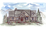 Rustic Home Plan Front of House 056D-0080