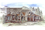 Mountain Home Plan Front of House 056D-0081