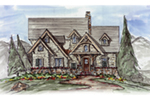 Cabin & Cottage House Plan Front of House 056D-0082