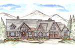 Mountain Home Plan Front of House 056D-0083