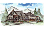 Rustic Home Plan Front of House 056D-0084