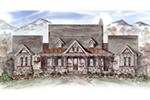Mountain Home Plan Front of House 056D-0085