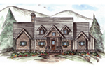 Mountain Home Plan Front of House 056D-0086