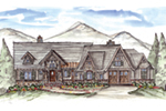 Ranch House Plan Front of House 056D-0087
