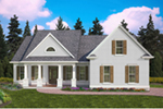 Southern House Plan Front of House 056D-0089
