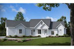 Ranch House Plan Front of House 056D-0095