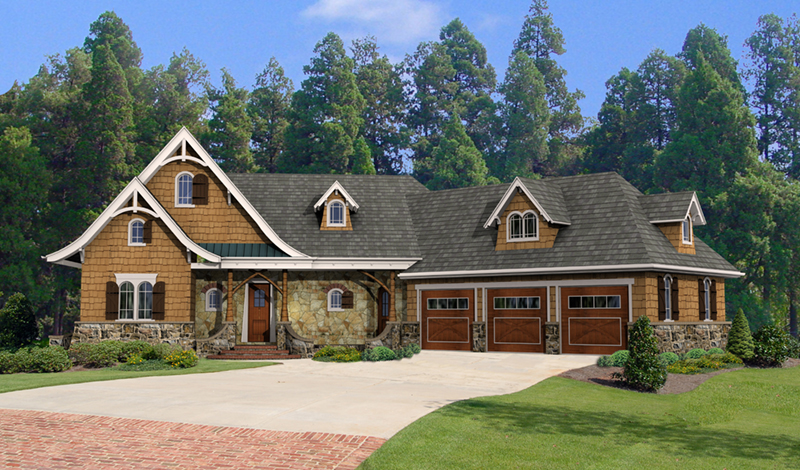 Arts & Crafts House Plan Front of Home - 056D-0118 | House Plans and More