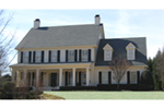 Colonial House Plan Front of House 056D-0119