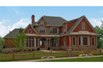 Traditional House Plan Front of House 056S-0003