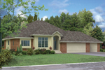 Traditional Ranch Is Appealing For Sunbelt Region With Stucco And Brick