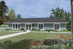 Berm House With Siding And Plenty Of Front Windows