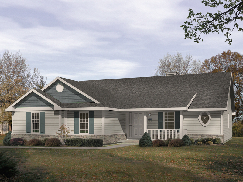 Windham Country Ranch Home Plan 058D-0033 | House Plans and More on ranch style house kits, ranch house designs floor plans, ranch style cabin floor plans, ranch homes 1500 sq ft open floor plan,