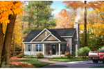 Shingle House Plan Front of Home - Mill River Cottage Home 058D-0195 | House Plans and More