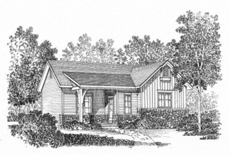 Vacation House Plan Front Image of House - Sawyer Hill Cottage Home 058D-0196 | House Plans and More