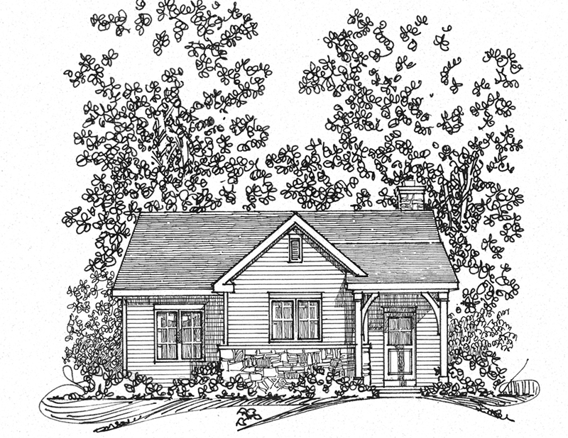 Ranch House Plan Front Image of House - Calriver Country Cottage 058D-0197 | House Plans and More