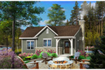 Ranch House Plan Front of Home - Calriver Country Cottage 058D-0197 | House Plans and More