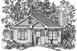 Country House Plan Front Image of House - Everett Creek Country Cottage 058D-0198   House Plans and More