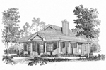 Lowcountry House Plan Front Image of House - Harlow Creek Country Cottage 058D-0199 | House Plans and More