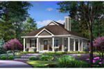 Lowcountry House Plan Front of Home - Harlow Creek Country Cottage 058D-0199 | House Plans and More