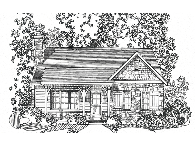 Country House Plan Front Image of House - Deer Lake Rustic Cottage Home 058D-0200 | House Plans and More