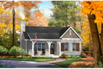 Vacation House Plan Front of House 058D-0200