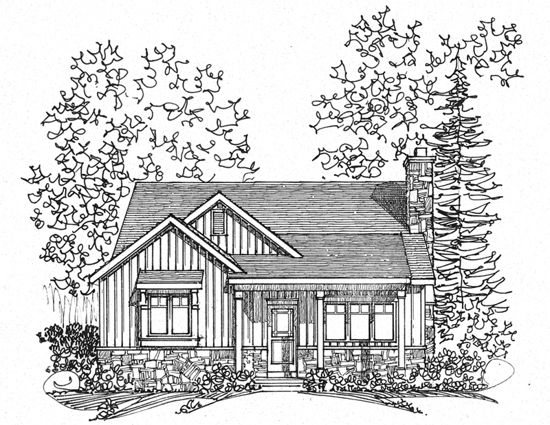 Vacation House Plan Front Image of House - Brookfalls Craftsman Home 058D-0201 | House Plans and More