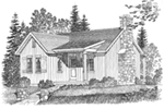 Lake House Plan Front Image of House - Gatehill Rustic Cabin Home 058D-0202 | House Plans and More