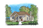 Shingle House Plan Front of House 058D-0203