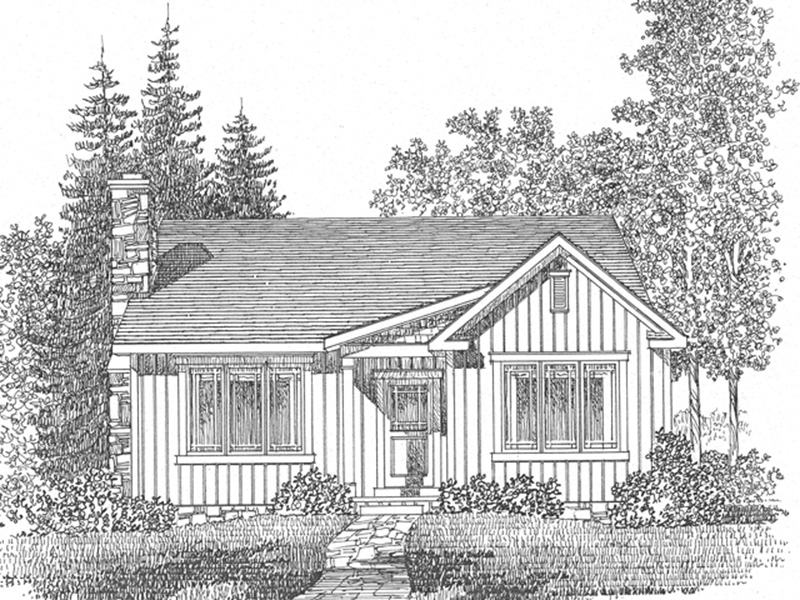 Rustic Home Plan Front Image of House - Lakes Cove Country Cabin 058D-0205 | House Plans and More