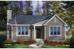 Ranch House Plan Front of House 058D-0205