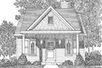 Lake House Plan Front Image of House - Marie Flatts Craftsman Cabin 058D-0207 | House Plans and More