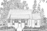 Vacation House Plan Front Image of House - Neva Path Country Cabin 058D-0208 | House Plans and More