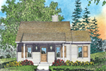 Vacation House Plan Front of Home - Neva Path Country Cabin 058D-0208 | House Plans and More