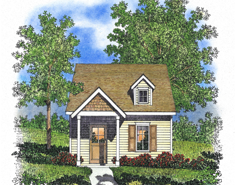 Ranch House Plan Front of Home - Orsen Creek Country Cabin 058D-0209 | House Plans and More
