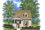 Neoclassical Home Plan Front of House 058D-0209