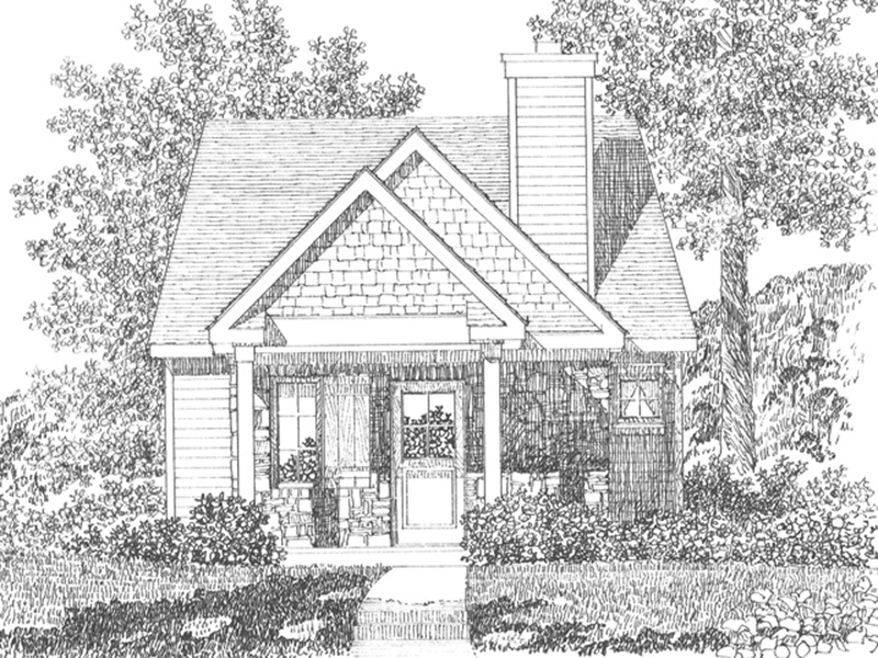 Cabin & Cottage House Plan Front Image of House - Peal Hollow Country Cabin 058D-0210 | House Plans and More
