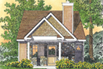 Rustic Home Plan Front of House 058D-0210