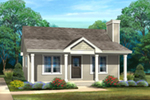 Vacation House Plan Front of House 058D-0212