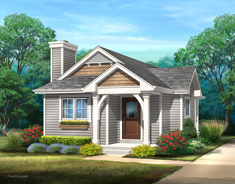 Arts & Crafts House Plan Front of Home - 058D-0213   House Plans and More