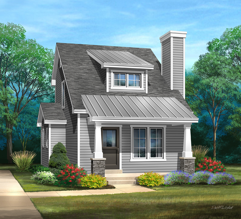 Arts & Crafts House Plan Front of Home - 058D-0214 | House Plans and More
