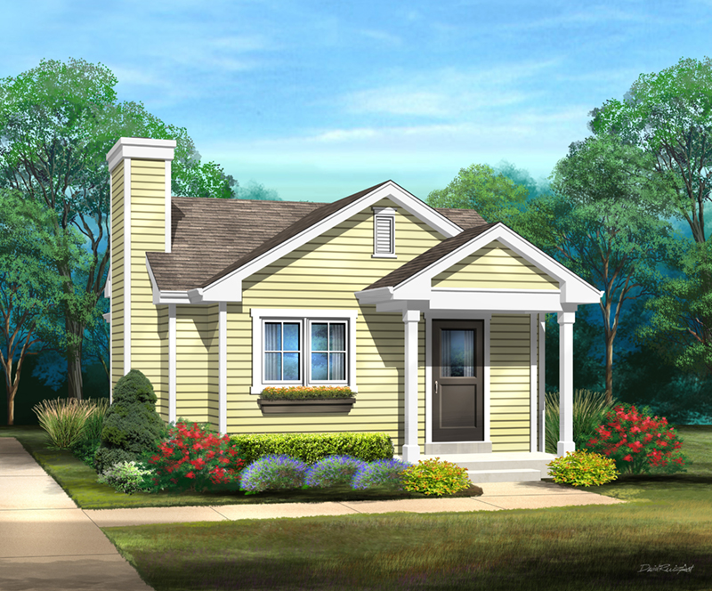 Country House Plan Front of Home - 058D-0216 | House Plans and More