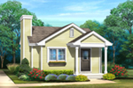 Lake House Plan Front of House 058D-0216