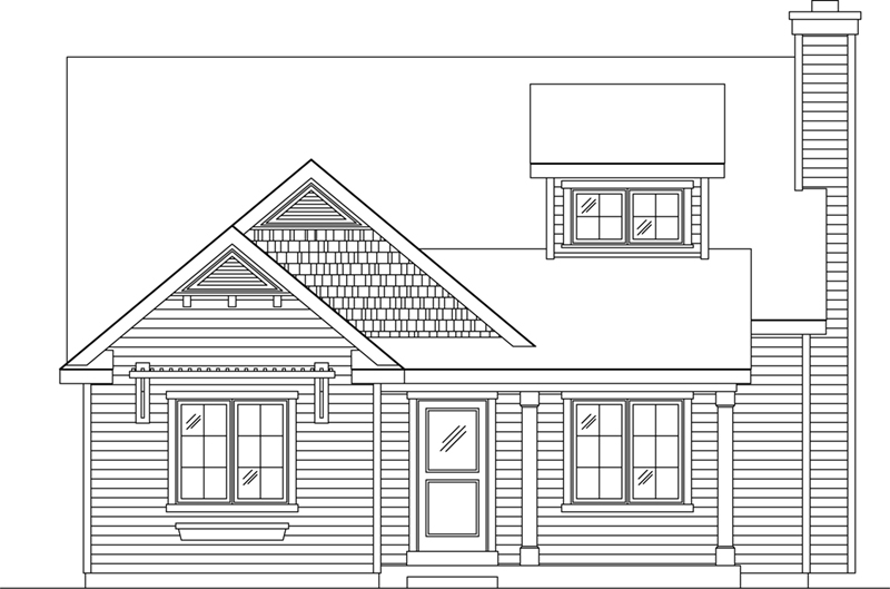 Craftsman House Plan Front of Home - 058D-0217 | House Plans and More