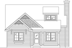 Bungalow House Plan Front of House 058D-0217