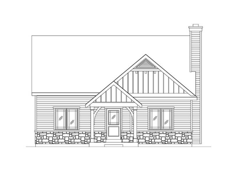 Rustic Home Plan Front of Home - 058D-0218 | House Plans and More