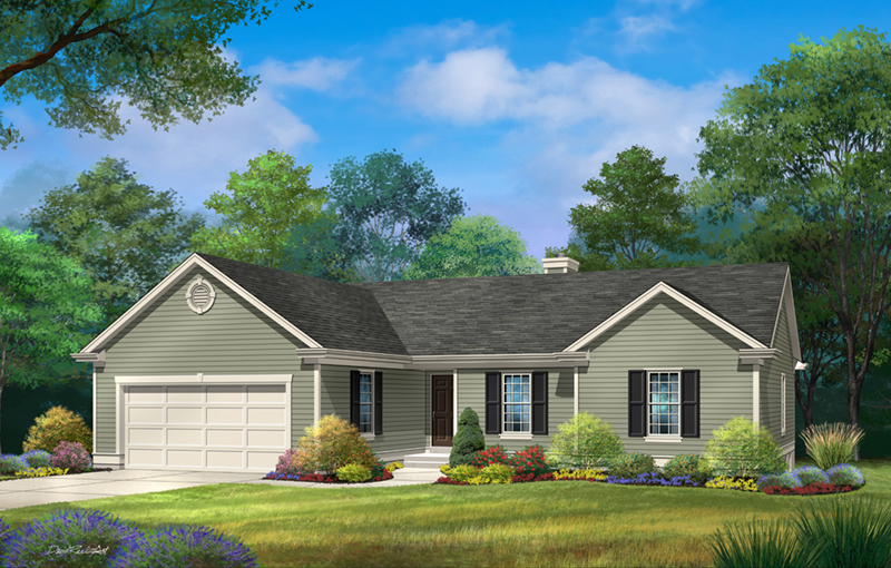 Traditional House Plan Front of Home - 058D-0219   House Plans and More