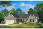 Traditional House Plan Front of House 058D-0219