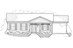 Traditional House Plan Front of House 060D-0114